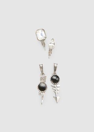 Symbolic Earring Set-silver