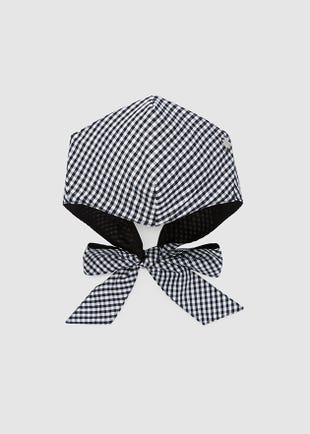 Gingham Bow Face Mask