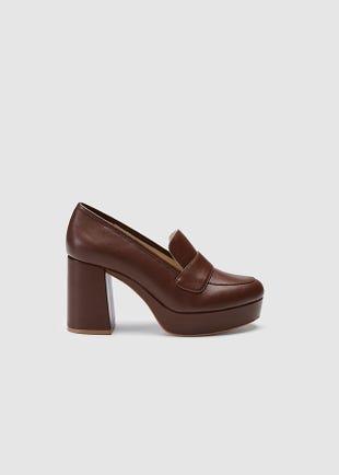 Chunky High Heel Loafers