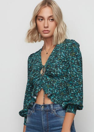 Butterfly Cropped Blouse