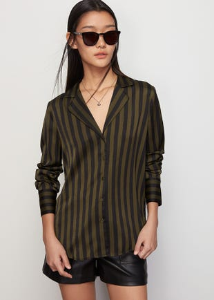 Striped Resort Collar Shirt
