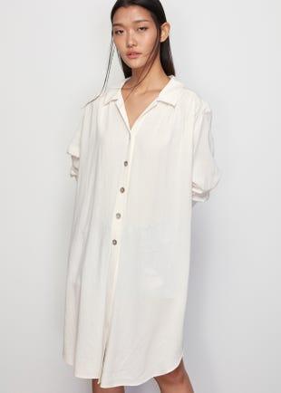 Puff Sleeve Shirt Dress
