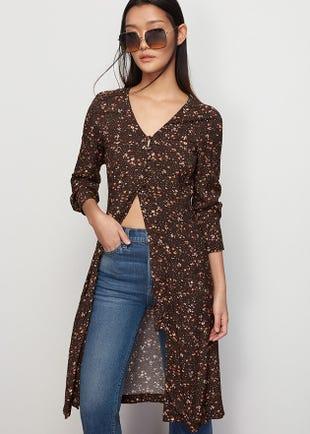 Floral Button Loop Dress