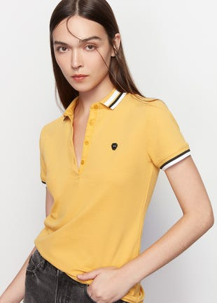 Symbolic Tipped Polo Shirt
