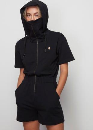 Hooded Zip Up Romper