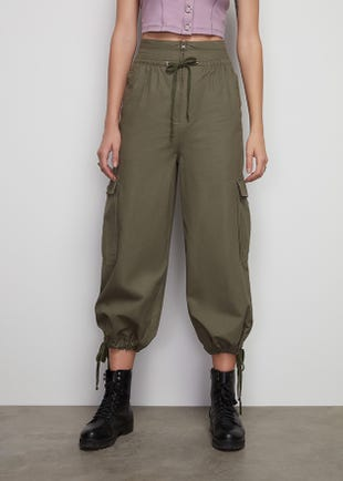 Ankle Tie Cargo Pants