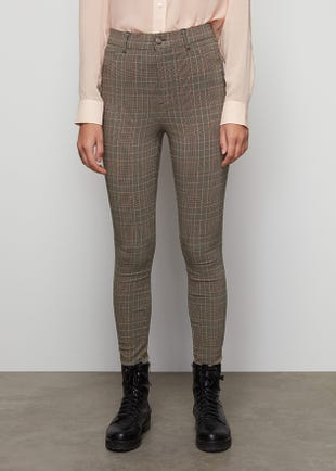 Plaid Skinny Trousers