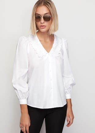 Scallop Collar Top