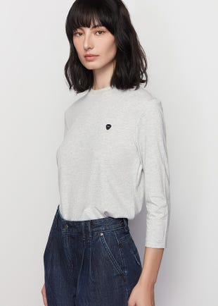 Symbolic Round Neck Long Sleeves Tee