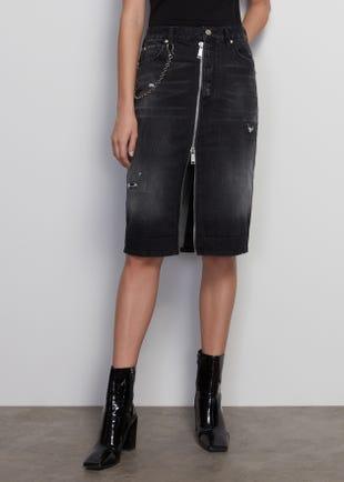 Denim Sheath Skirt