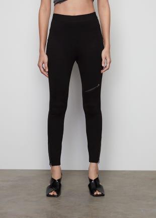 High Waist Zip Trousers