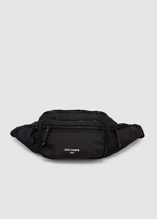 Logo Strap Belt Bag-black
