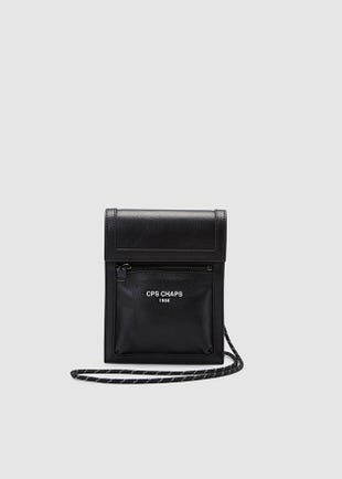 Two Pocket Neck Pouch-black