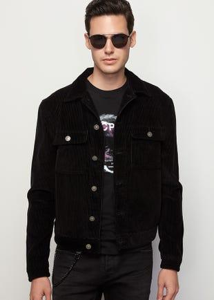 Corduroy Jacket in Black