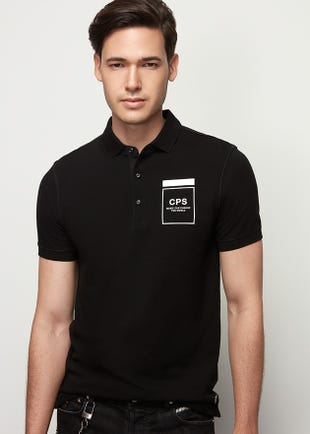 Rubber Print Polo Shirt
