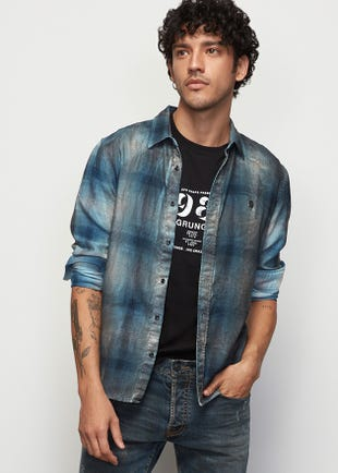 Faded Checked Shirt