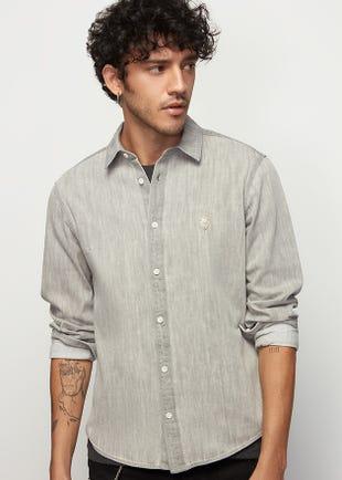 Denim Shirt in Grey