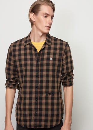 Brown Checked Shirt