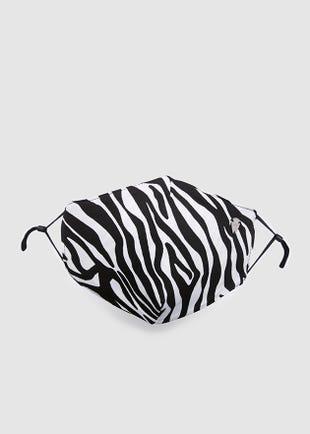 Zebra Print Fabric Mask