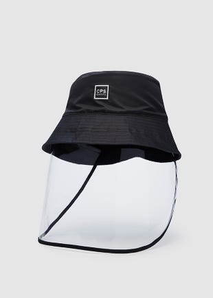 Logo Bucket Hat with Face Shield