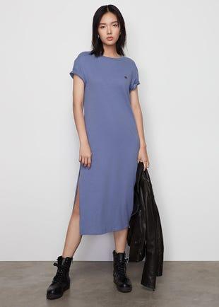 Side Slit T-Shirt Dress