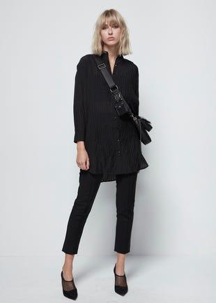 Semi-Sheer Shirt Dress