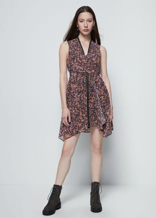 Floral Wraparound Dress
