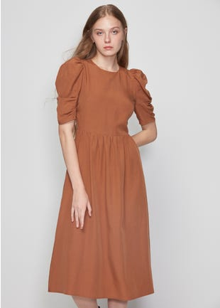 Lace Up Back Midi Dress