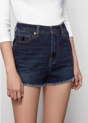 High Waist Denim Cutoffs