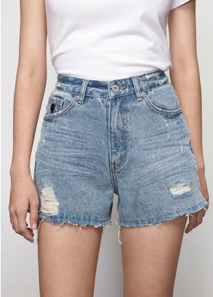 Organic Denim Cutoffs