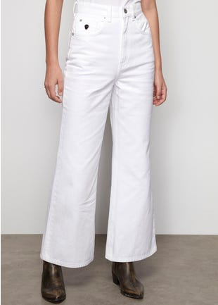 White Wide Leg Jeans