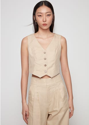Cropped Sleeveless Vest