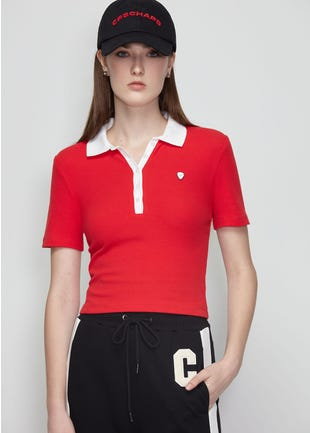 Constrast Collar Polo Shirt