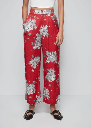 Oriental Floral Trousers