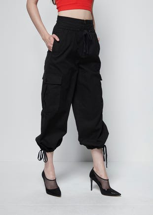 Ankle Tie Cargo Trousers