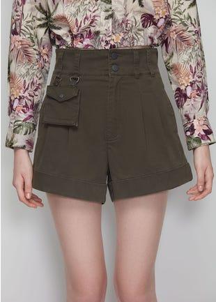 High Waist Pouch Shorts