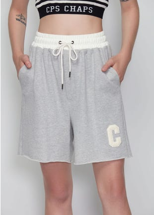 Grey Above The Knee Shorts