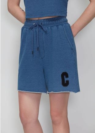 Blue Above The Knee Shorts