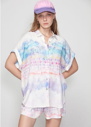 Tie Dye Button Up Shirt