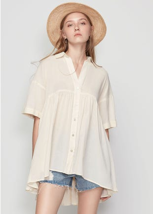 High Low Babydoll Shirt