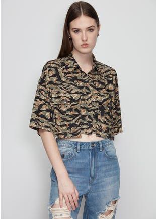 Camo Crop Shirt