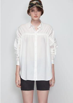 White Tie Sleeve Shirt