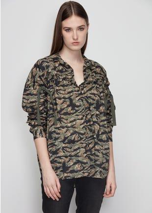 Camo Tie Sleeve Shirt