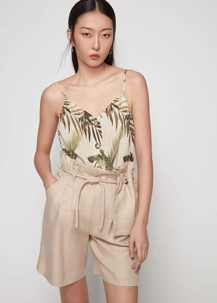 Tropical Button Front Camisole