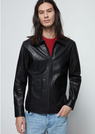 Zip Up Biker Jacket
