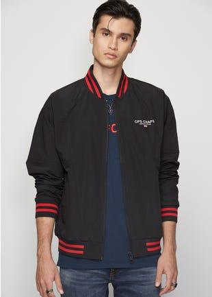 Red Stripe Bomber Jacket