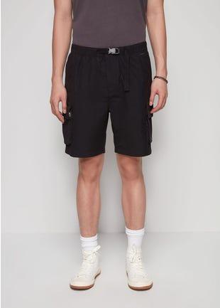 Buckle Strap Cargo Shorts