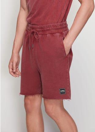 Acid Wash Sweat Shorts