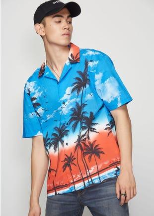 Tropical Sunset Resort Shirt