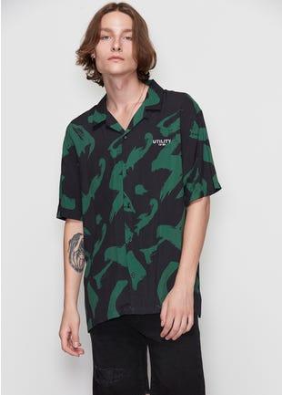 Printed Green Resort Shirt